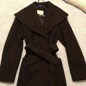 Women's small black pea coat